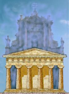 prospetto pincipale dipinto greco